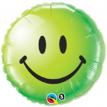 "Smiley Face Green Foil Balloon (18"") 1pc"